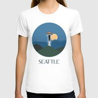 seattle T-shirts featuring Seattle by uzualsunday