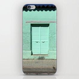 Mint Door (San Cristóbal, Chiapas, Mexico) iPhone Skin