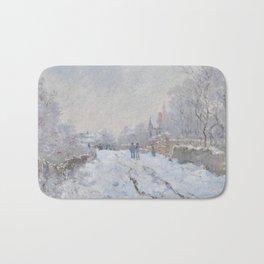 Snow Scene at Argenteuil Bath Mat