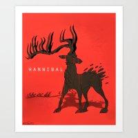 The Ravenstag Art Print