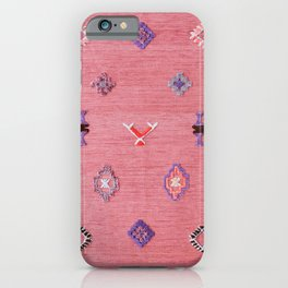 N61 - Lovely Pink Traditional Boho Farmhouse Moroccan Style Artwork iPhone Case