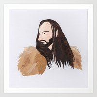thorin Art Prints featuring Thorin by Stacey Knights