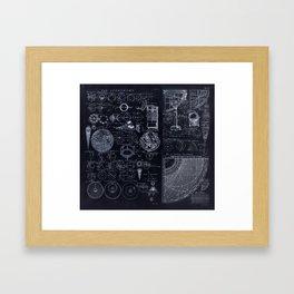 Astronomy Blueprint Diagrams Framed Art Print