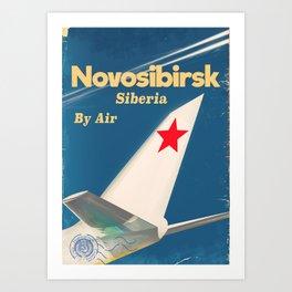 Novosibirsk Siberian vintage soviet union poster Art Print