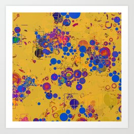 Vibrant Multi Color Abstract Design Art Print