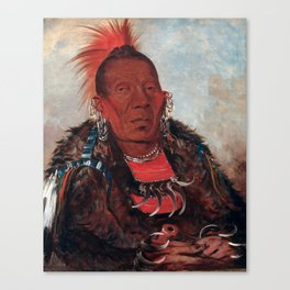 Wah-ro-née-sah, The Surrounder by George Catlin Canvas Print