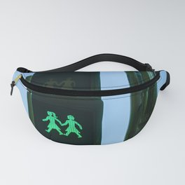 0000341 Traffic light shows support for LGBQT rights Madrid Spain 3444 Fanny Pack