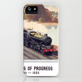 100 Years of Progress, 1835-1935. GWR Vintage Travel Poster iPhone Case