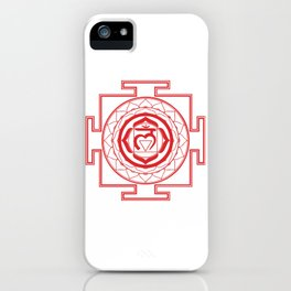 Sri Yantra Root Chakra iPhone Case