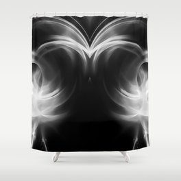 abstract fractals mirrored reacbw Shower Curtain