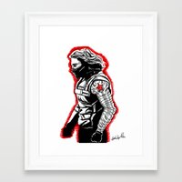 winter soldier Framed Art Prints featuring Winter Soldier by Lydia Joy Palmer