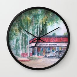 Long Beach Creamery Wall Clock