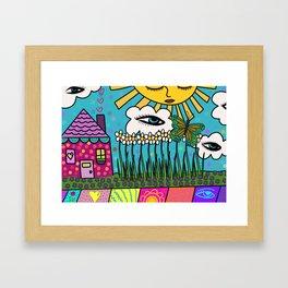 Sleepy House Framed Art Print