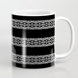 Black and White Tribal Striped Pattern Coffee Mug