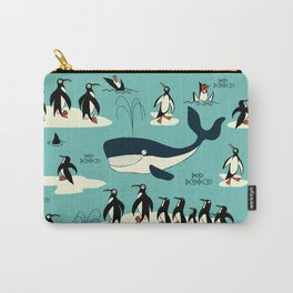 Whales and penguins Carry-All Pouch