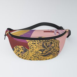 The Big Eye Leopard abstract Fanny Pack