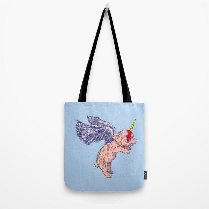 Flying Pigasus Unicorn Tote Bag