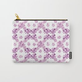 Geometric purple mosaic rotation pattern Carry-All Pouch