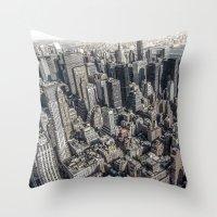 manhattan Throw Pillows featuring Manhattan by Nicklas Gustafsson