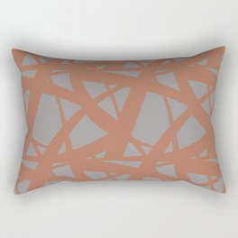 Cavern Clay SW 7701 Abstract Mosaic Pattern 3 on Slate Violet Gray SW9155 Rectangular Pillow