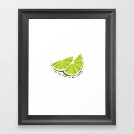 Lime in the Coconut Framed Art Print