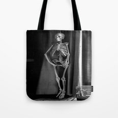 The Skeleton by the Printer Tote Bag