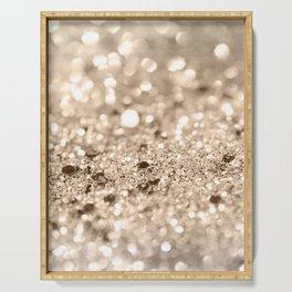 Gold Lady Glitter #1 #shiny #decor #art #society6 Serving Tray