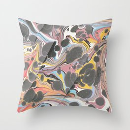 Electric Dreamwaves Throw Pillow