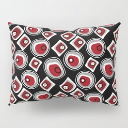 """Abstraction. """"Pebbles """" on a black background . Pillow Sham"""