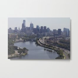 philly view from the zoo balloon Metal Print