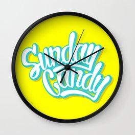 Sunday Candy Wall Clock