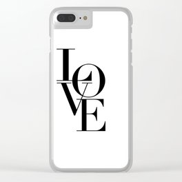 LOVE IS SWEET, Love Sign,Love Art,Wedding Decor,Anniversary Quote,Love Symbol,Love you more Clear iPhone Case