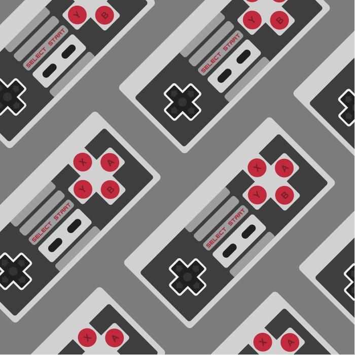 Retro Video Game Pattern Duvet Cover