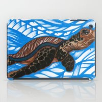 turtle iPad Cases featuring Turtle by Lonica Photography & Poly Designs