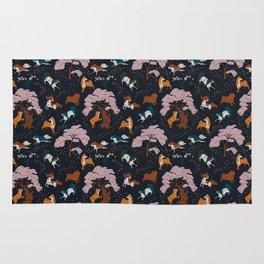 Cherry Blossom and Dog Dance Rug