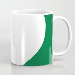 Heart (White & Olive) Coffee Mug