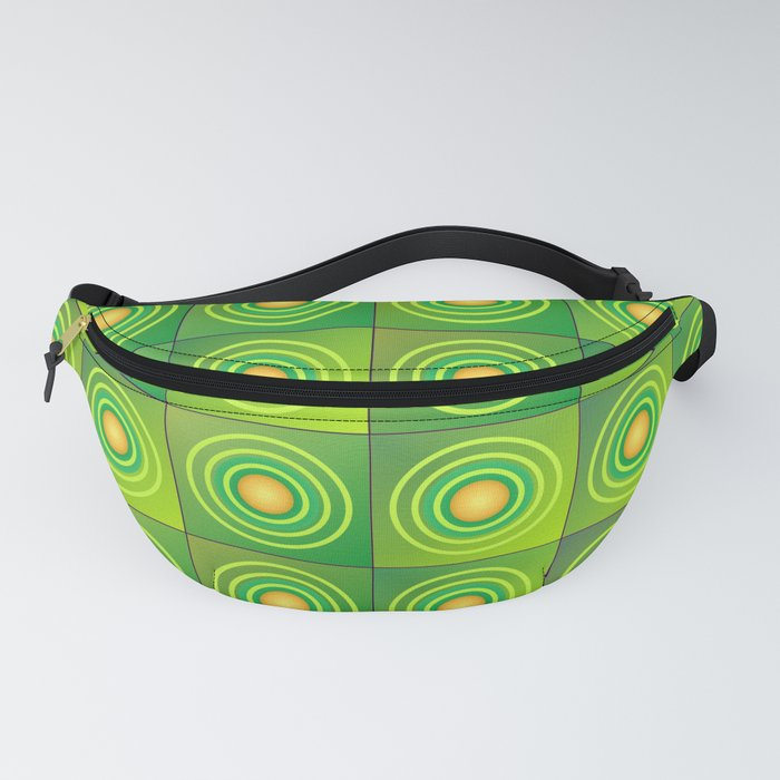 Squares and circles Fanny Pack