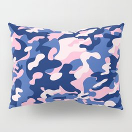 Blue Pink Camouflage Pillow Sham