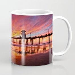 Sunset Huntington Beach Pier CA   Coffee Mug