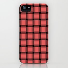 Light Red Weave iPhone Case