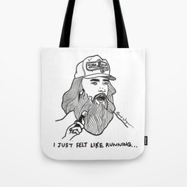 Forrest Gump Drawing Tote Bag