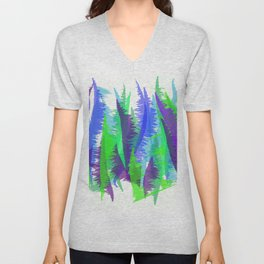 Purple and Green Abstract - original design by ArtStudio29 Unisex V-Neck