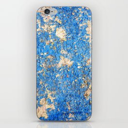 Textures in Blue iPhone Skin