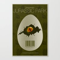 jurassic park Canvas Prints featuring Jurassic Park by ChrisAbles