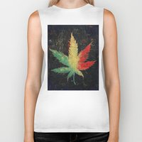 marijuana Biker Tanks featuring Marijuana by Michael Creese