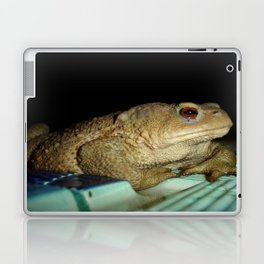European Common Toad by Poolside At Night Laptop & iPad Skin