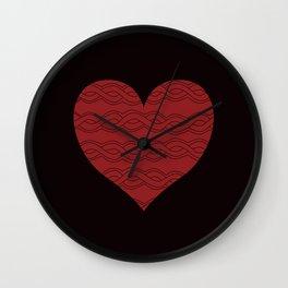 Hearts Woven 05 Wall Clock