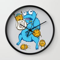 cookies Wall Clocks featuring Cookies by MOONGUTS (Kyle Coughlin)