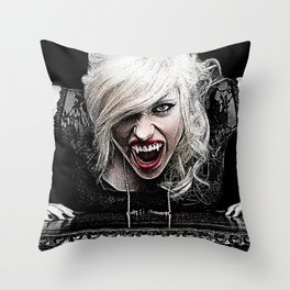 Sexy Female Vampire Throw Pillow