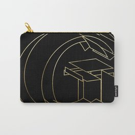 Gold Armor Letter G Carry-All Pouch